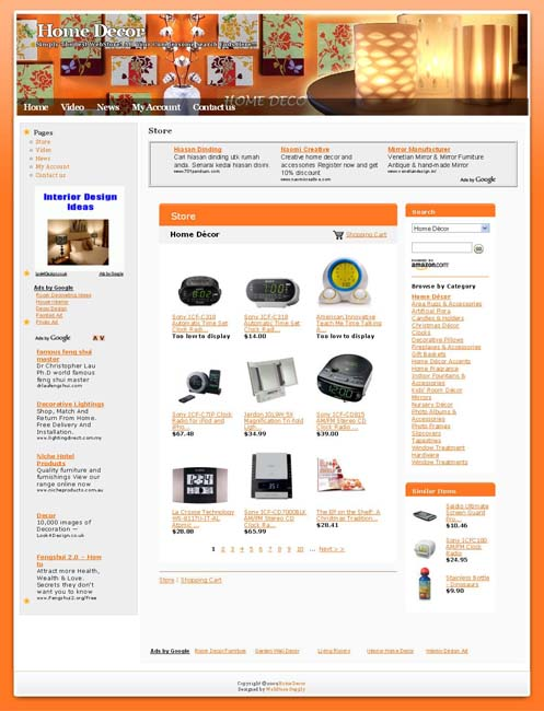 Established online home decor store business website for for Home decor sale sites